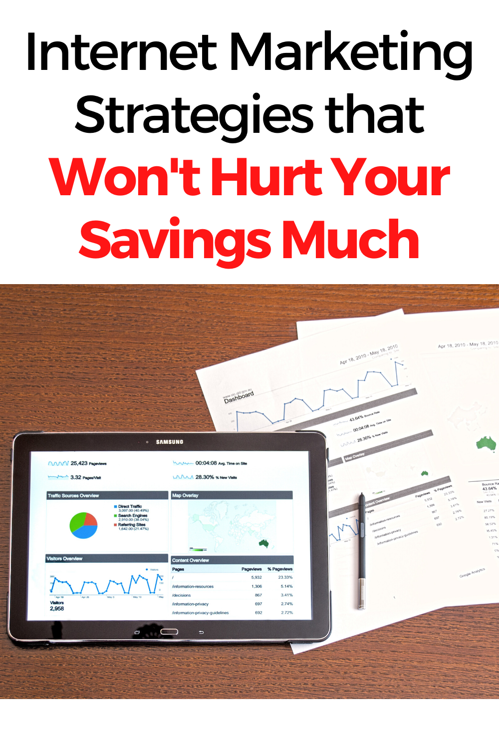 Internet Marketing Strategies that Won't Hurt Your Savings Much