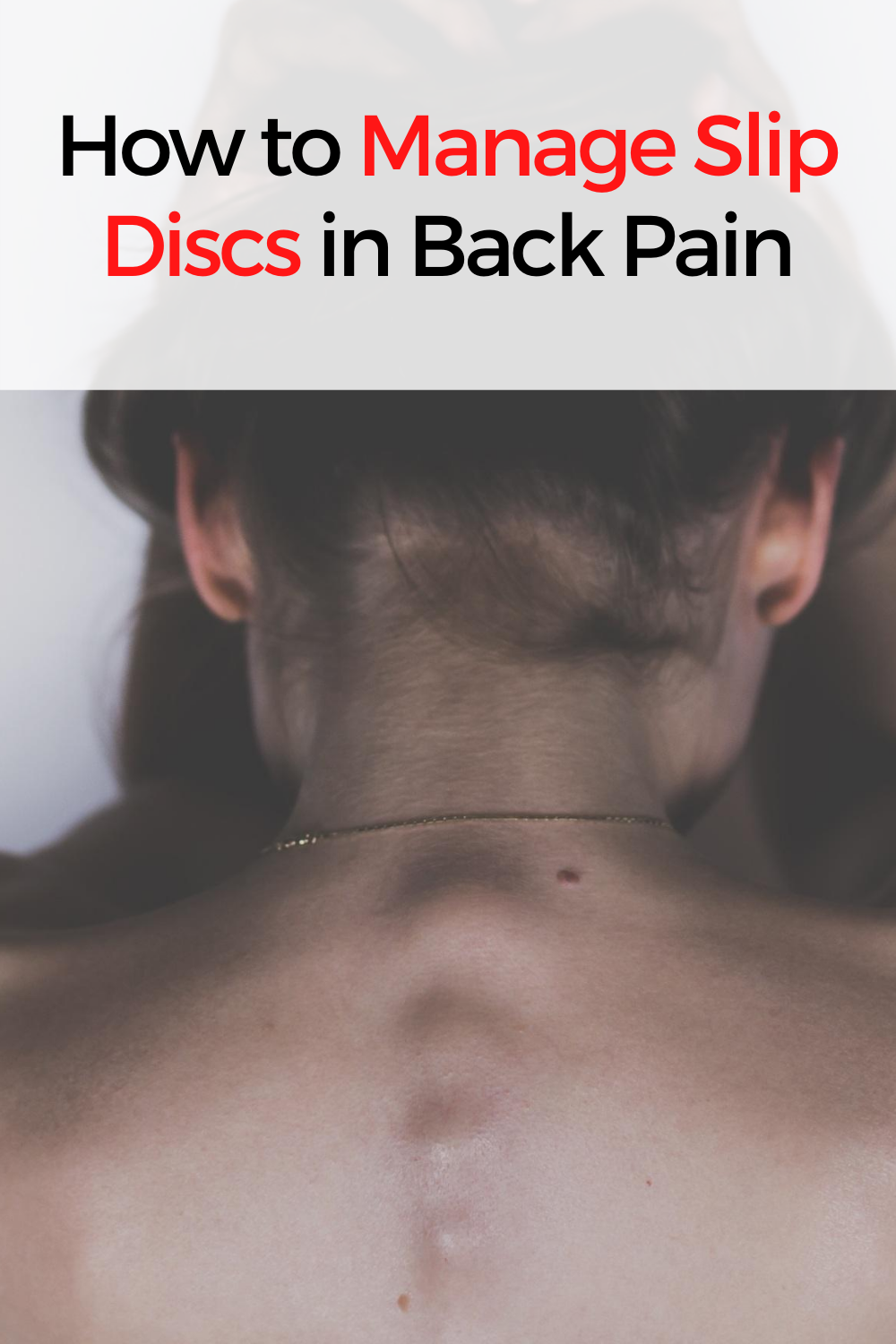 How to manage slip disc in back pain